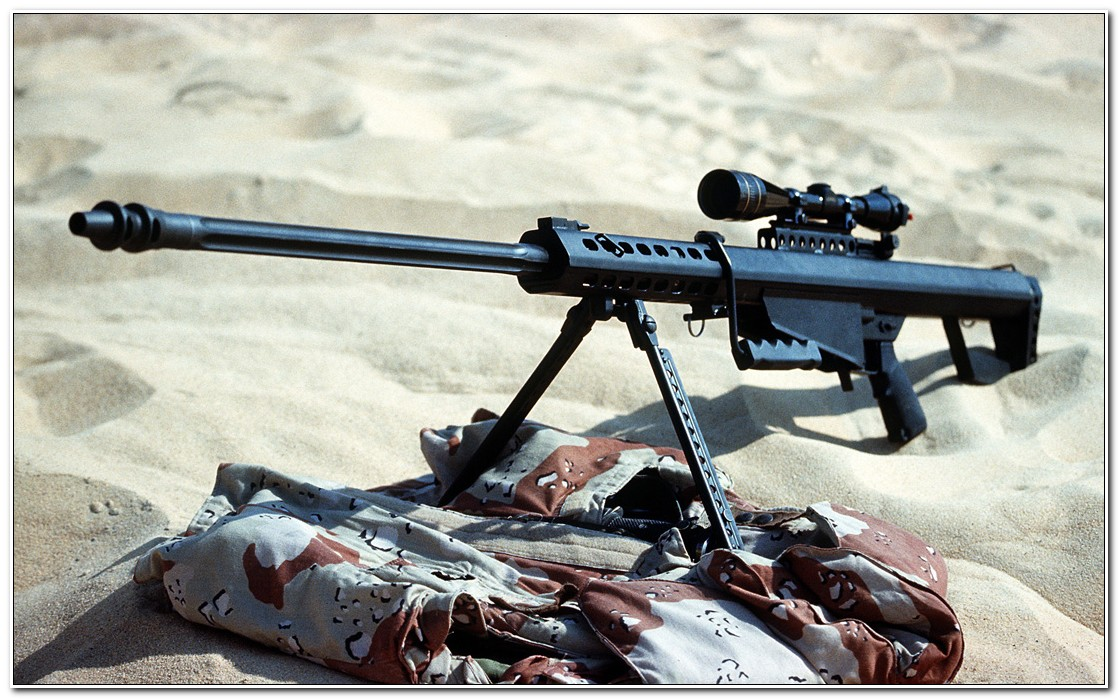 A Model 82A1 .50-caliber sniping rifle deployed by the 60th Ordnance Detachment during Operation Desert Shield.