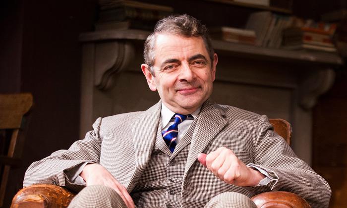 Rowan Atkinson (St John Quartermaine)  in Quartermaine's Terms by Simon Gray @ Wyndhams Theatre. Directed by Richard Eyre. (Opening 29-01-13) ©Tristram Kenton 01/13 (3 Raveley Street, LONDON NW5 2HX TEL 0207 267 5550  Mob 07973 617 355)email: tristram@tristramkenton.com