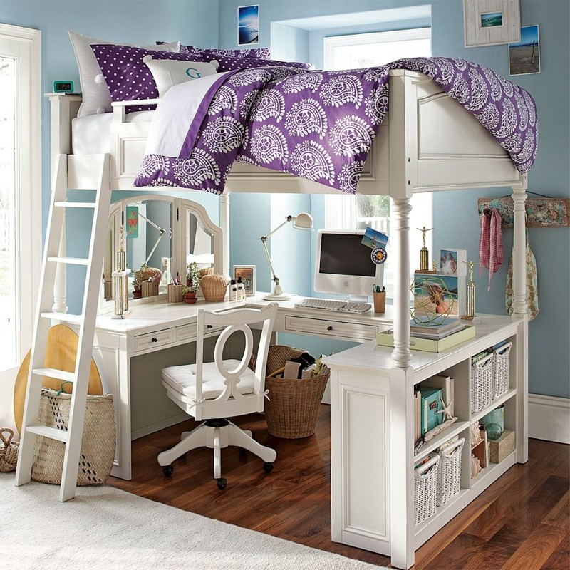 full loft bed with desk for teens Compact Brick Picture Frames -