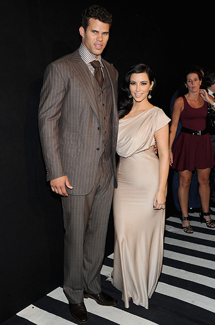 NEW YORK, NY - AUGUST 31: NBA player Kris Humphries (L) and TV personality Kim Kardashian attend A Night of Style & Glamour to welcome newlyweds Kim Kardashian and Kris Humphries at Capitale on August 31, 2011 in New York City. (Photo by Jamie McCarthy/Getty Images)