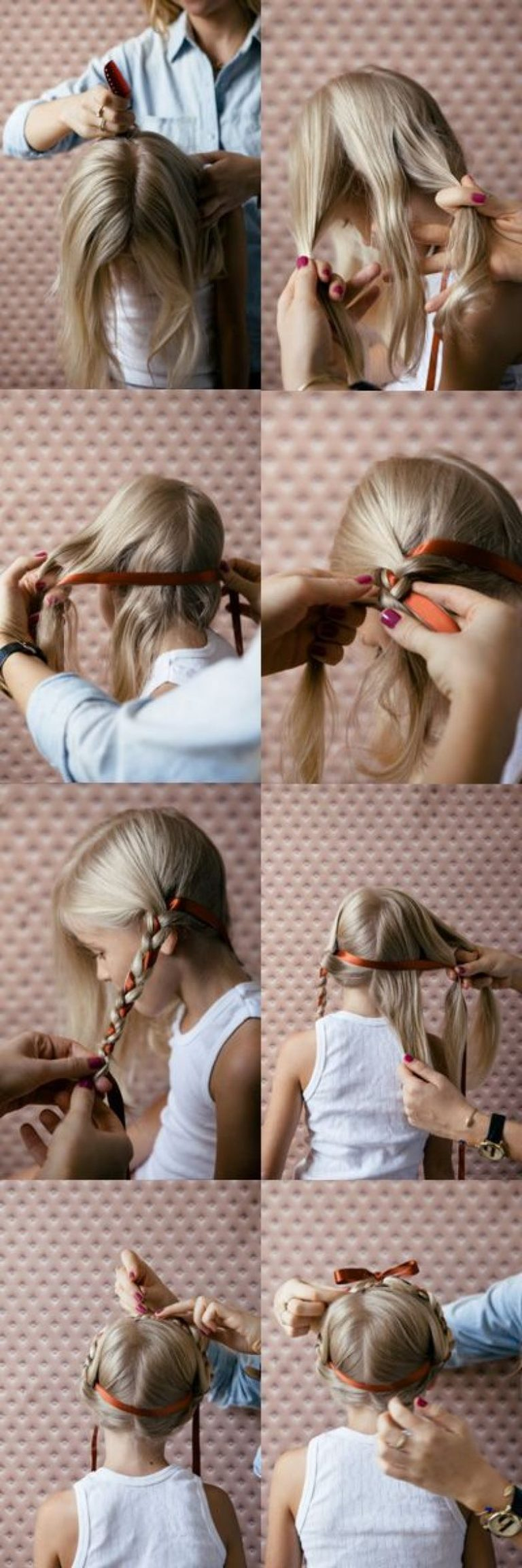 Как делать прическу для детей у которых длинные волосы