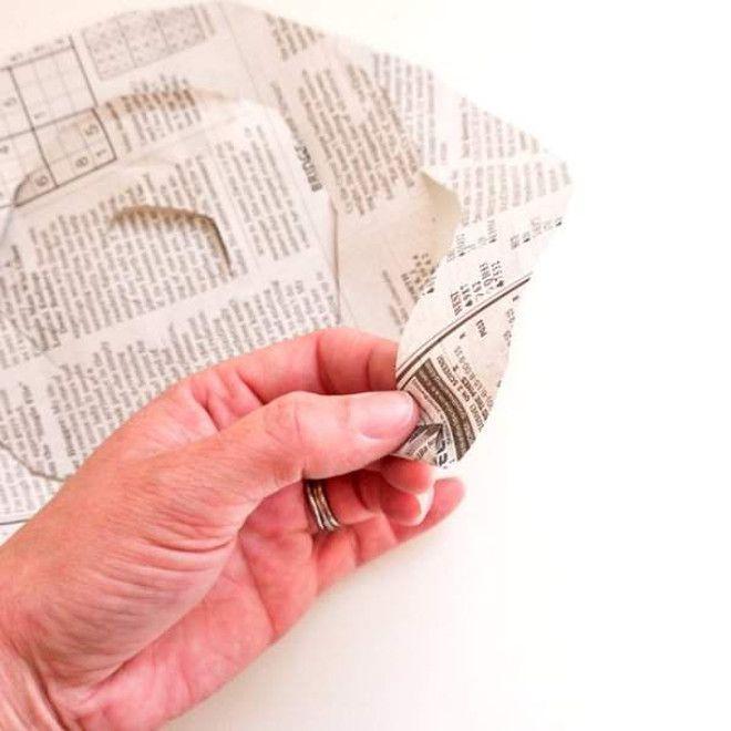 Как сделать букет из газеты