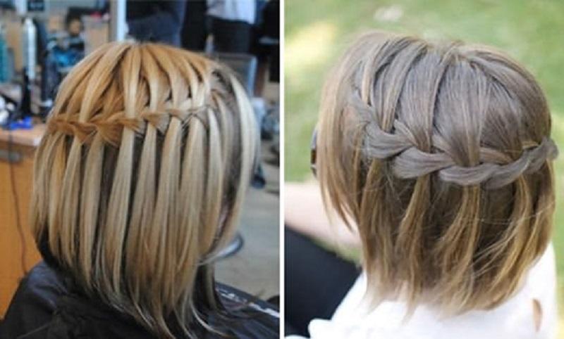Прически плетение для коротких волос