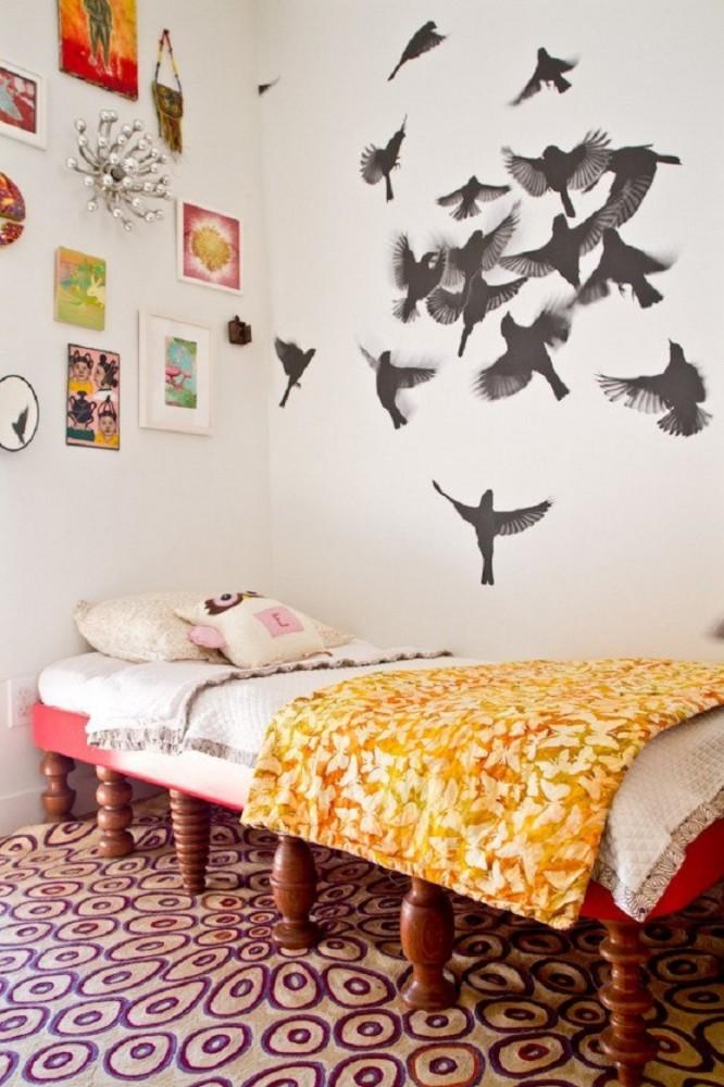 Украсить стену в комнате идеи