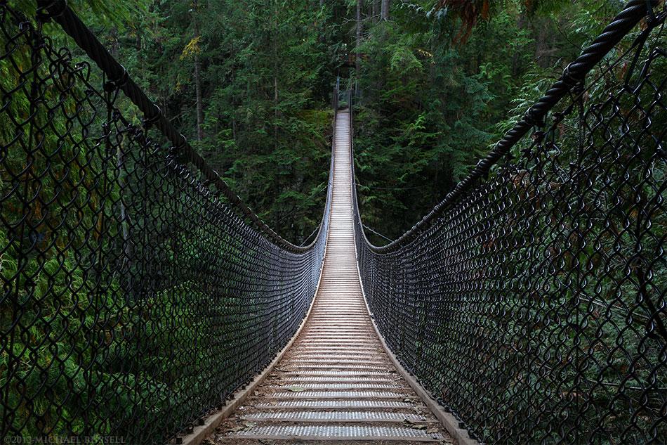 The Lynn Canyon Suspension Bridge in Lynn Canyon Park, North Vancouver, British Columbia, Canada