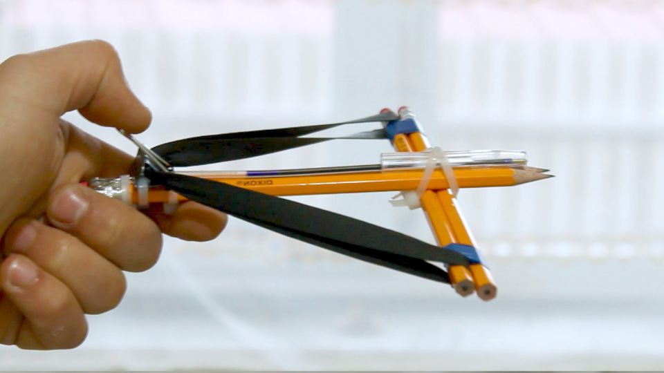 Как сделать арбалет из карандашей своими руками 71